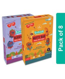 Timios Nutty Bar & Berry Bars Pack of 8 - 30 grams Each
