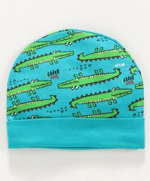 Ohms Cap Crocodile Print - Blue