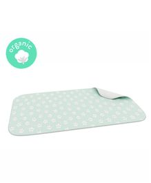 Fancy Fluff Organic Bed Protector - Sea Green