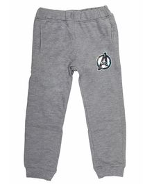 Marvel By Crossroads Avengers Logo Print Full Length Elasticated Pants - Grey