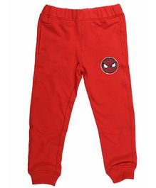 Marvel By Crossroads Spider Man Print Full Length Elasticated Pants - Red
