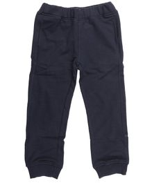 Wear Your Mind Solid Full Length Joggers - Navy Blue