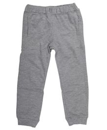Wear Your Mind Solid Full Length Joggers - Light Grey