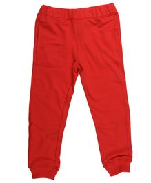 Wear Your Mind Solid Full Length Joggers - Red