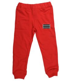 Wear Your Mind Striped Detailing Full Length Joggers - Red