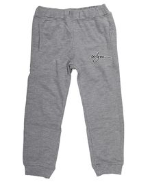 Wear Your Mind Jogger Solid Full Length Joggers - Grey