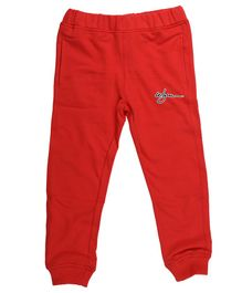 Wear Your Mind Jogger Solid Full Length Joggers - Red