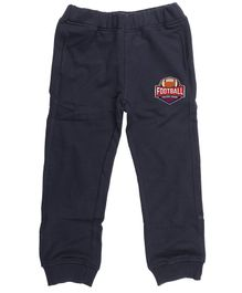 Wear Your Mind Jogger Full Length Football Detailing Joggers - Navy Blue