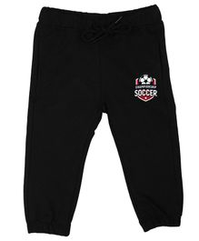 Wear Your Mind Full Length Soccer Patch Lounge Pants - Black