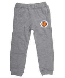 Wear Your Mind Full Length Basketball Print Lounge Pants - Grey