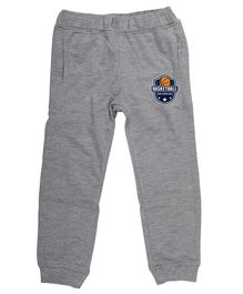 Wear Your Mind Full Length Basketball Patch Lounge Pants - Grey