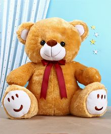 Teddy Bear Soft Toy with Bow Brown - Height 33 cm