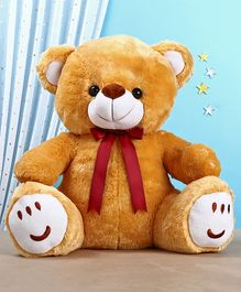 Teddy Bear Soft Toy with Bow Brown - Height 41 cm