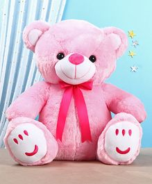 Teddy Bear Soft Toy with Bow Pink - Height 50 cm