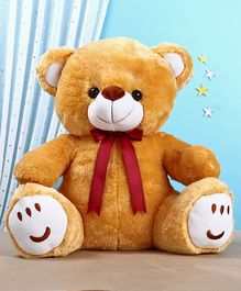 Teddy Bear Soft Toy with Bow Brown - Height 60 cm
