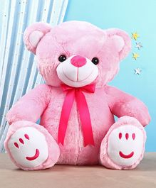 Teddy Bear Soft Toy with Bow Pink - Height 60 cm