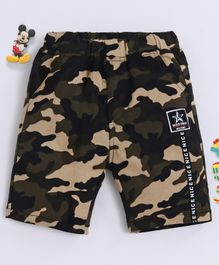 Kookie Kids Shorts Camouflage Print - Brown Green