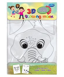Navneet 3D Glowing Mask Activity Kit - White