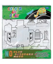 Navneet Colour And Play Digger Kit White - 17 Pieces