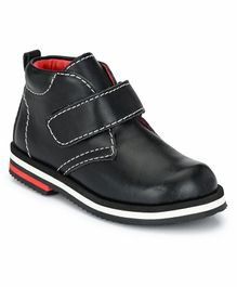 Tuskey Velcro Closure Ankle Length Boots - Black