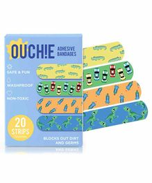 Aya Papaya Ouchie Adhesive Bandages Pack Of 20 - Multicolor
