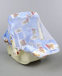 Infanto Baby Love Carry Cot Cum Rocker With Mosquito Net - Blue
