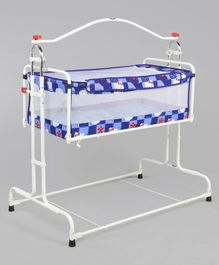 New Natraj Compact Cradle DLX Hello Kitty Print - Blue
