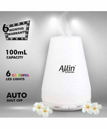 Allin Exporters DT-1508B  2 in 1 Ultrasonic Humidifier & Diffuser White - 100 ml