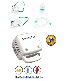 Control D Nebulizer With Child & Adult Mask - White
