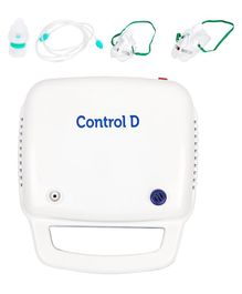 Control D Nebulizer With Child & Adult Mask - White Blue