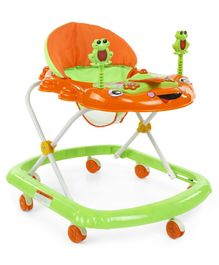 Baby Walker with Play Tray - Orange Green
