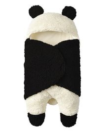 Pre Order - Awabox Panda Style Hooded Swaddle - Black