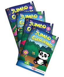 Target Publications Blossom Jumbo Creative Colouring Book Combo Level 1 to 4 Pack of 4 Books - English