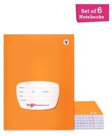 Target Small Notebooks Single Line Pack of 6 - 172 Pages Each