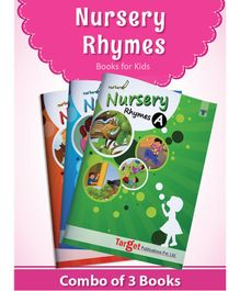 Target Publication Popular Nursery Rhymes Books Set of 3 - English