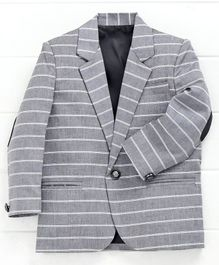 Rikidoos Striped Full Sleeves Blazer - Grey