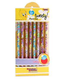 Tweety Printed Pencils Set of 8 - Multicolor