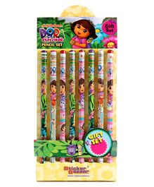Dora Printed Pencils Set of 8 - Multicolor
