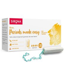 Sirona FDA Approved Premium Heavy Flow Digital Tampon  - 20 Pieces