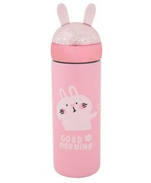 Yellow Bee Hot & Cold Stainless Steel Flask Bunny Print Pink - 300 ml