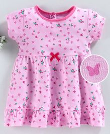 Baby Naturelle & Me Half Sleeves Nighty Butterfly Print - Pink