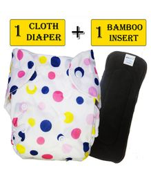 Babymoon Free Size Reusable Cloth Diaper with Insert - White