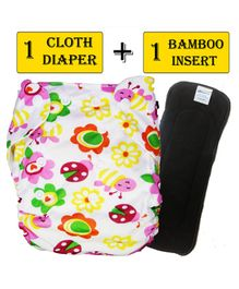 Babymoon Free Size Reusable Cloth Diaper with Insert - Multicolor