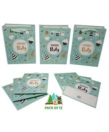 Amfin Birthday Party Gift Bags Mint Green - Pack of 12
