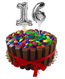 Amfin Number One & Six Foil Balloon Cake Toppers Silver - Pack of 2