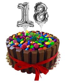 Amfin Number One & Eight Foil Balloon Cake Toppers Silver - Pack of 2