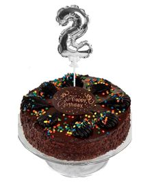 Amfin Number Foil Balloon Cake Topper - Silver
