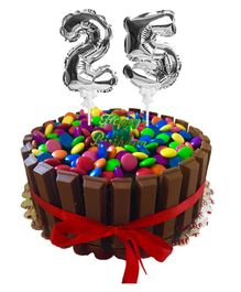 Amfin Number Foil Balloon Cake Topper Pack of 2 - Silver