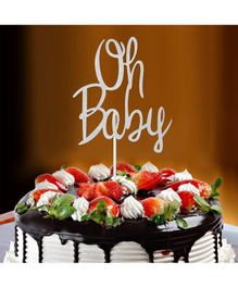 Amfin Oh Baby Cake Topper - Silver