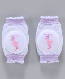 1st Step Baby Knee Pads - White Purple